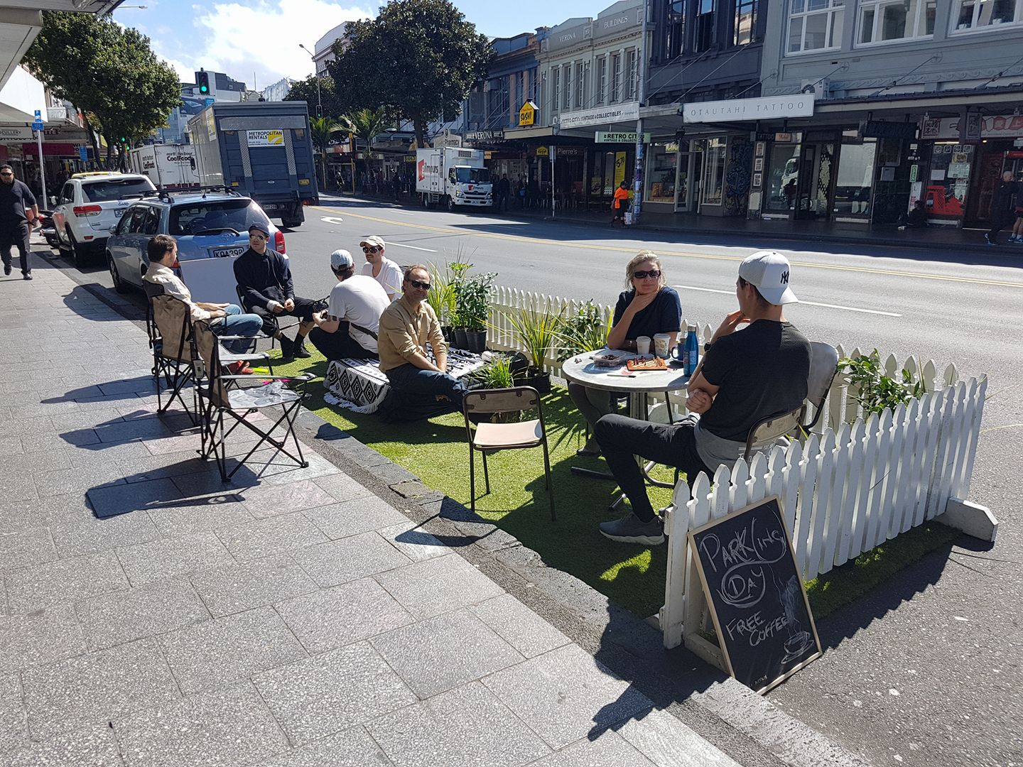 Park(ing) day has been running since 2005.