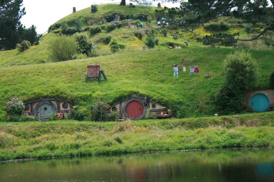 Martin also admires our own hobbit houses.