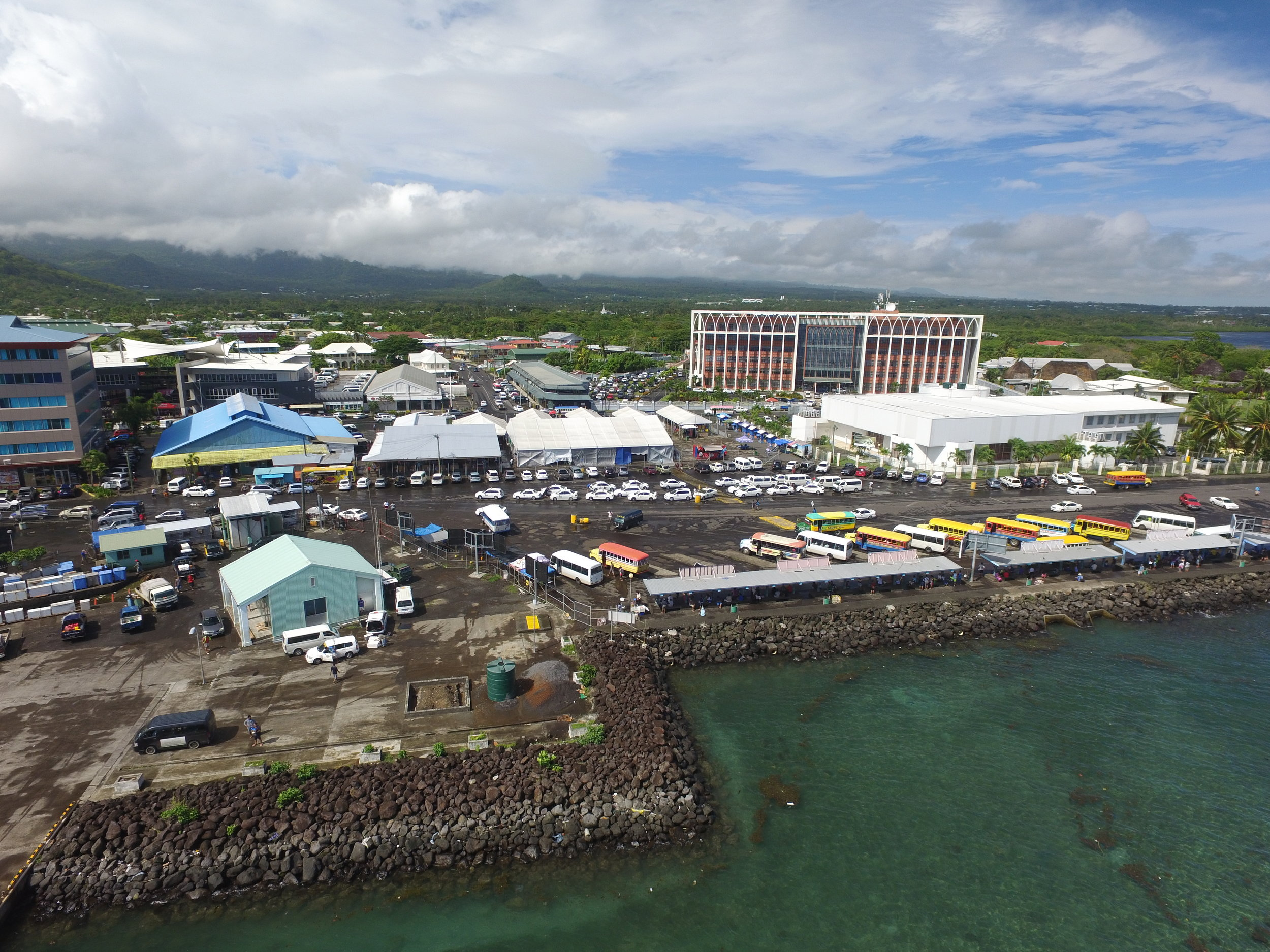 The waterfront in Apia before the development.