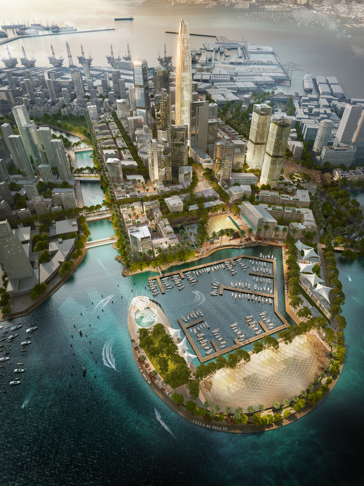 A $1.4 billion project in Colombo is set to be a innovative destination for culture, commerce and tourism. Image credit - SOM.