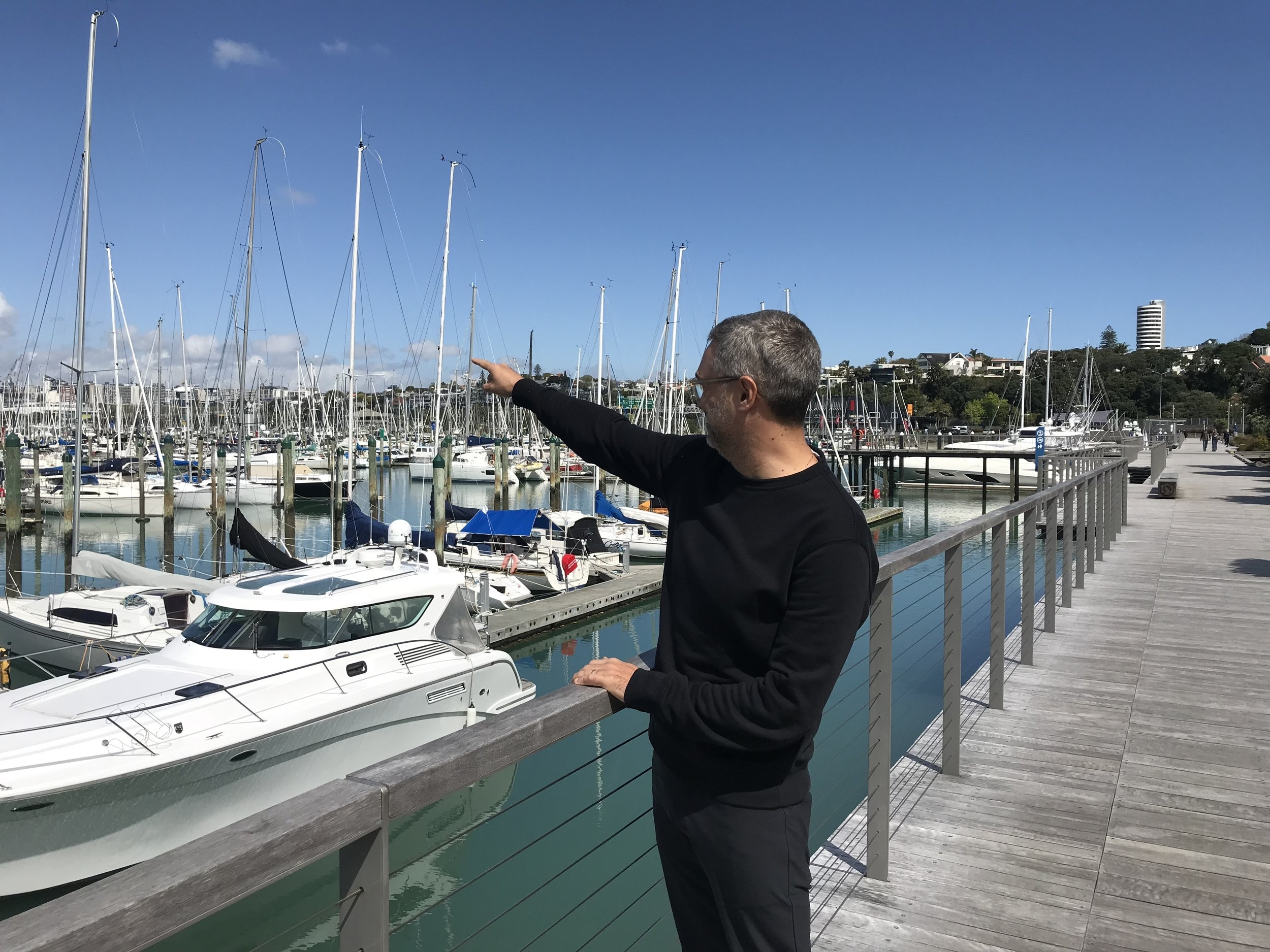 Martin Rein-Cano on LandLAB's Westhaven Promenade in Auckland.