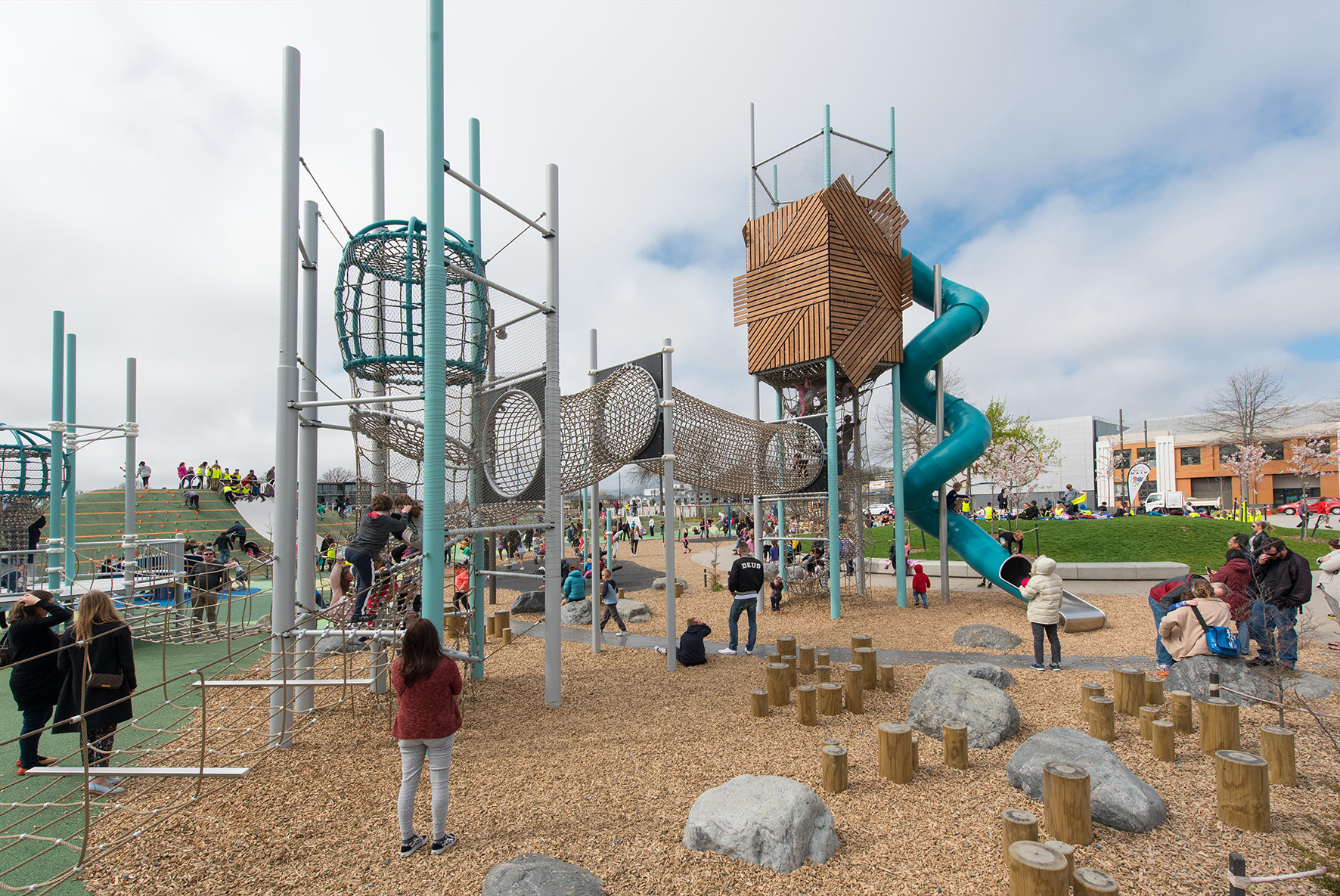 Tākaro ā Poi - the Margaret Mahy Family Playground has 8000m2 play space for all ages and abilities. It's had an amazing 500,000+ visitors since opening.