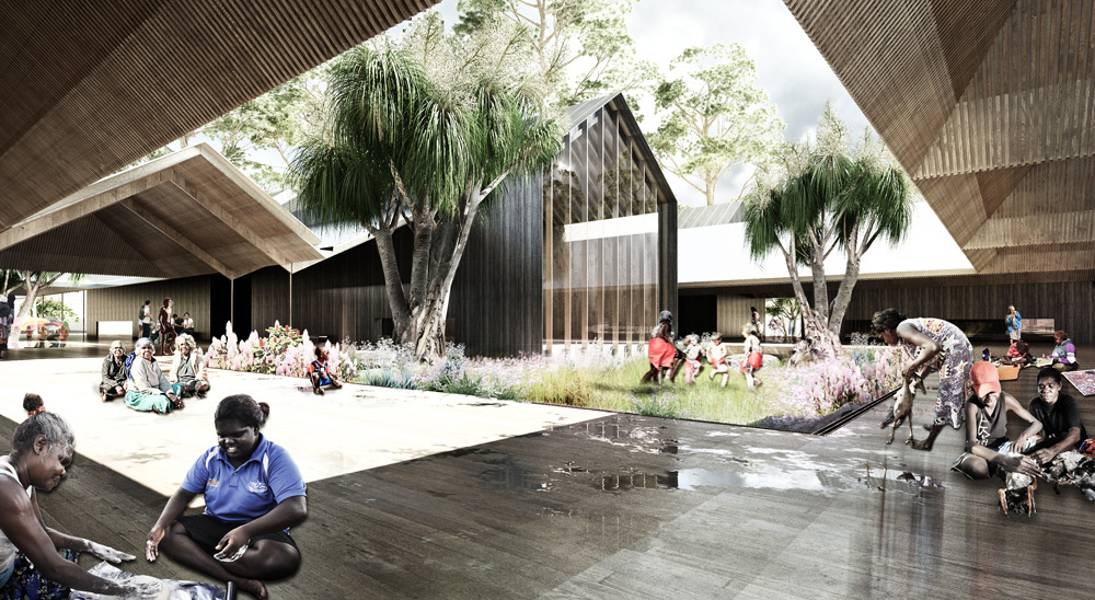 The masterplan sees the town transformed into a tourism centre. Image credit - NAAU/Enlocus.