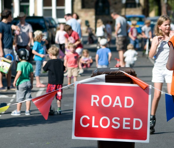 Oldfield Road play street, in Hackney, London. Image credit -Hackney Council.