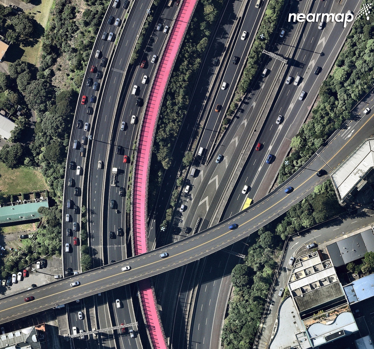 Auckland's Lightpath as captured by Nearmap.