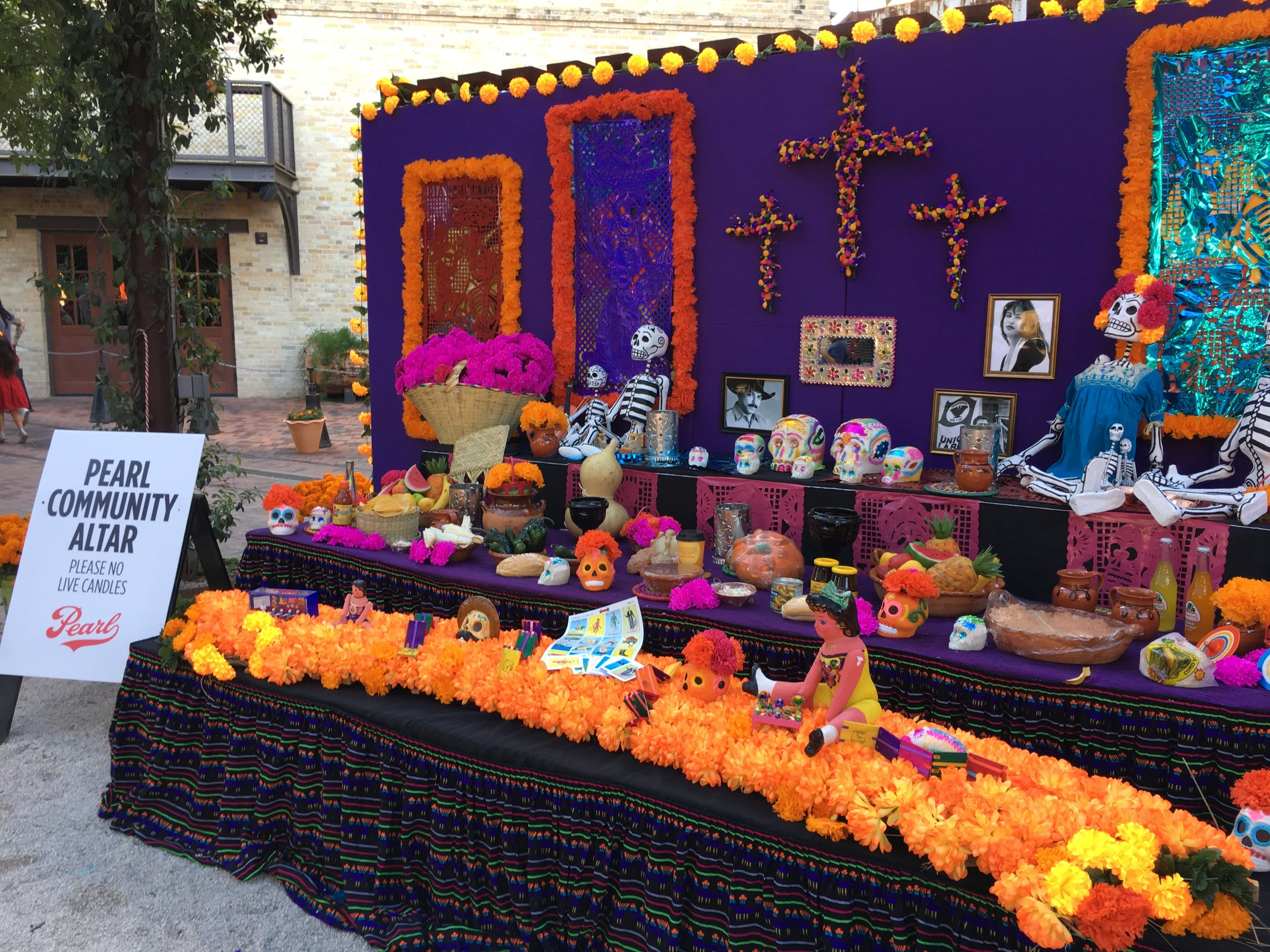 The Pearl Brewery community altar in San Antonio.