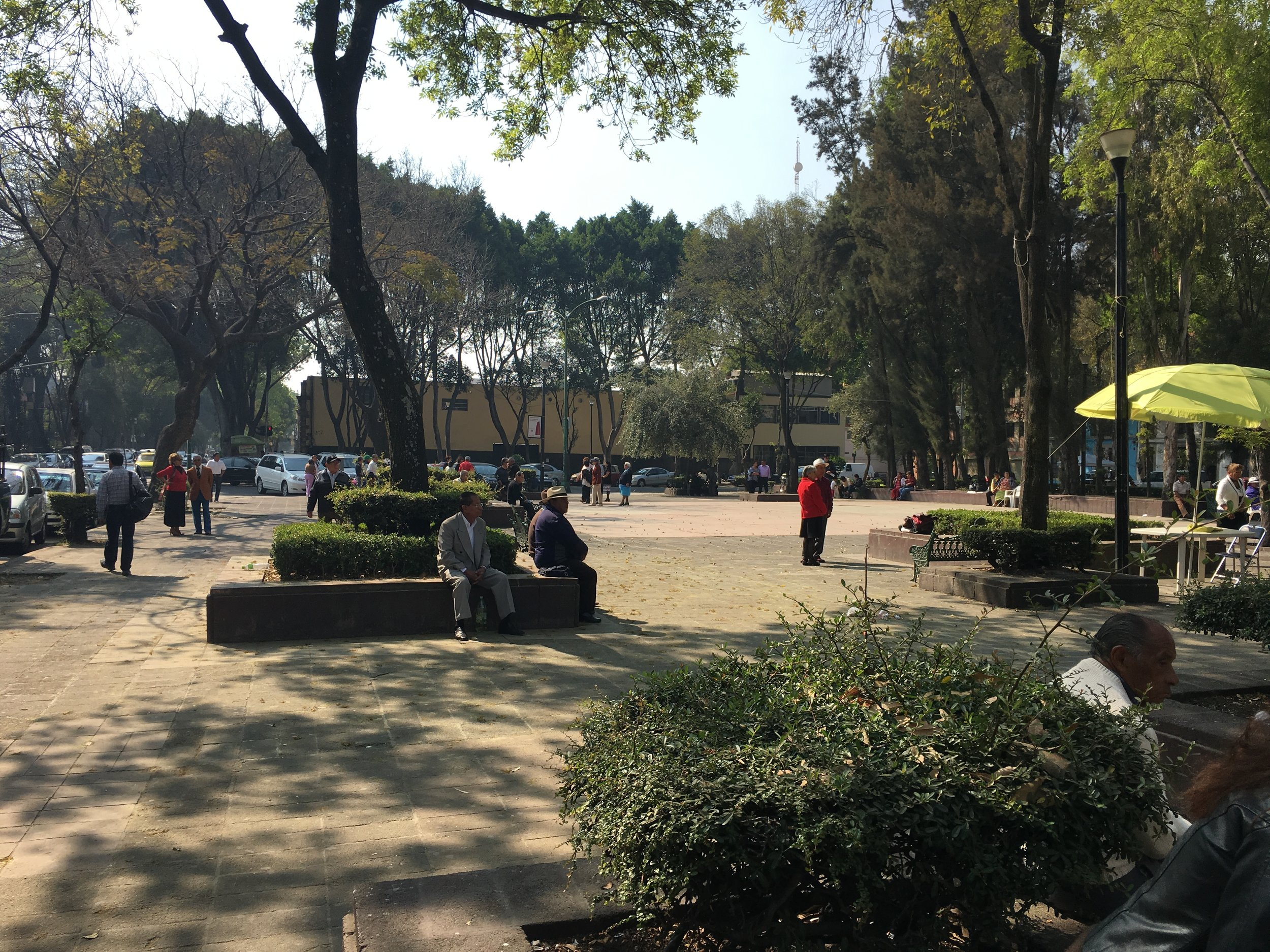 Open air dancing in Mexico City.