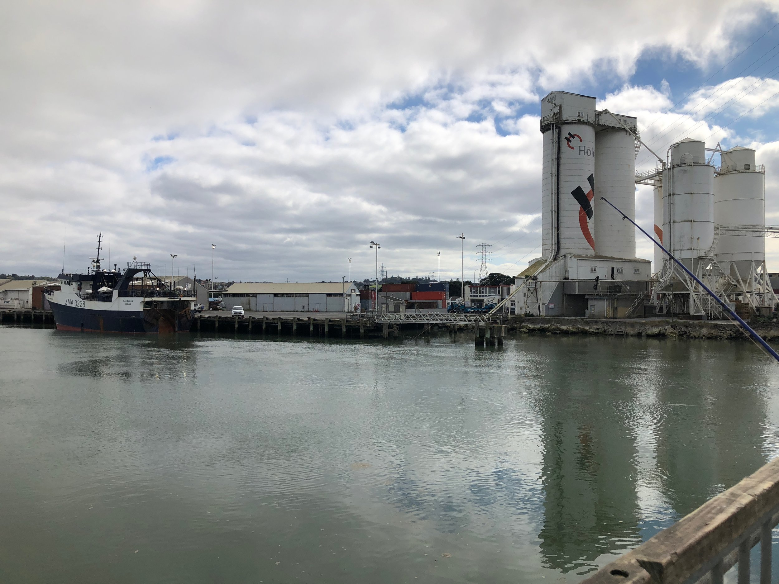 Onehunga Port is becoming too shallow for modern shipping. Manukau Habour has been handicapped for years by a sandbar across the harbour mouth which limits the size of ships that can use it