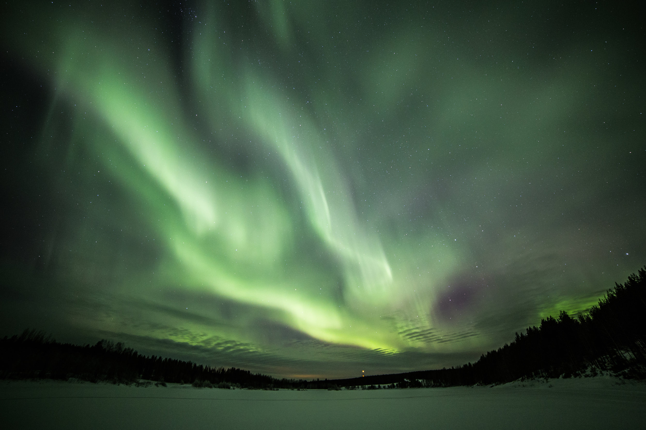 The Northern Lights adds to the magic at this time of year in Rovaniemi. Copyright: ©Visit Rovaniemi (Rovaniemi Tourism & Marketing Ltd.