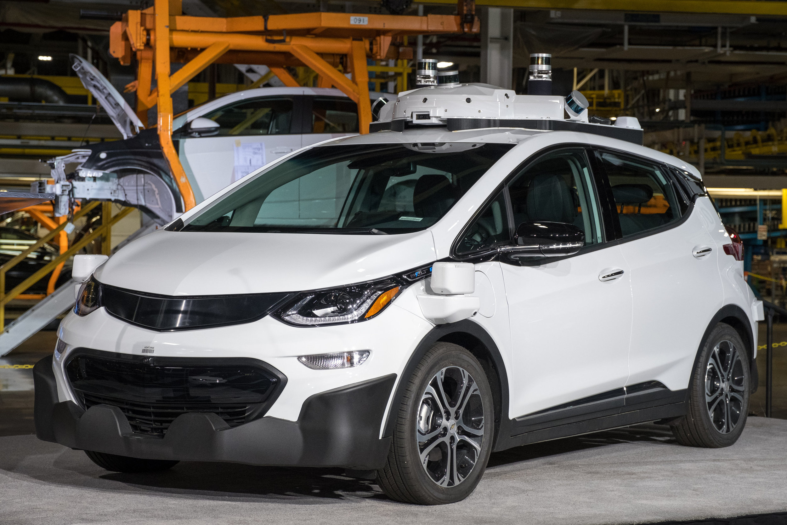 GM is producing Self-Driving Chevy Bolt EV Test Vehicles. Image credit - GM.