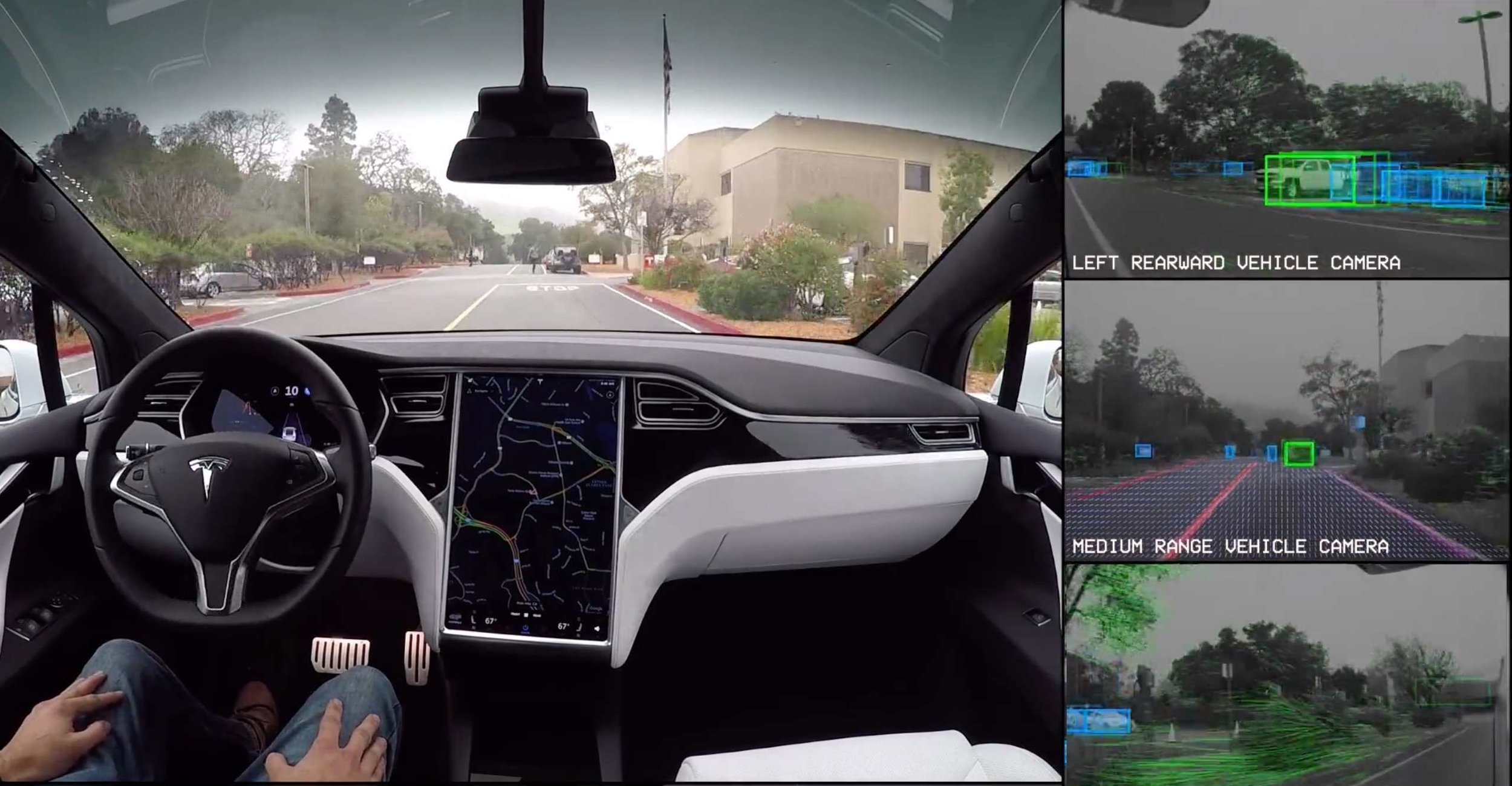 Tesla is another car manufacturer working on autonomous vehicles. Image credit - Tesla.