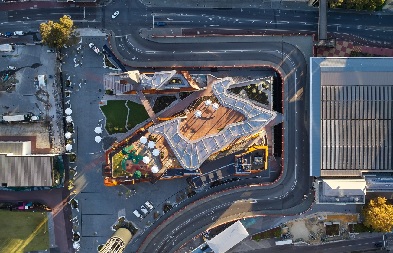 Aspect Studio's were the landscape architects for the Yagan Square project.