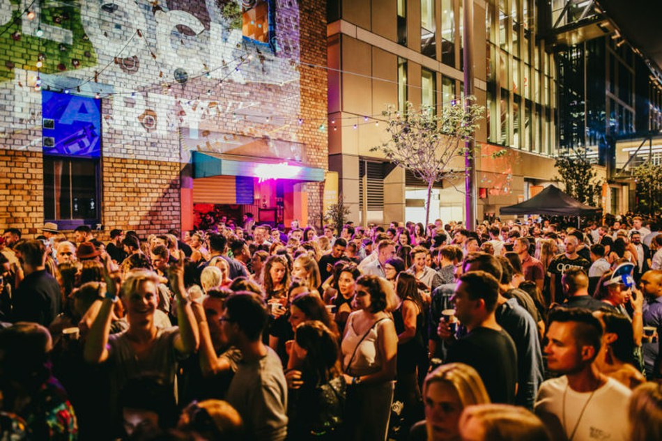Britomart's 2018 Block Party held over New Years. Photo: Britomart's website.