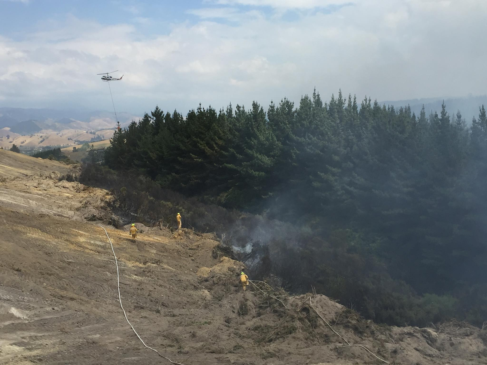 Nelson and Tasman fires February 2019. Image courtesy of Nelson Civil Defence.