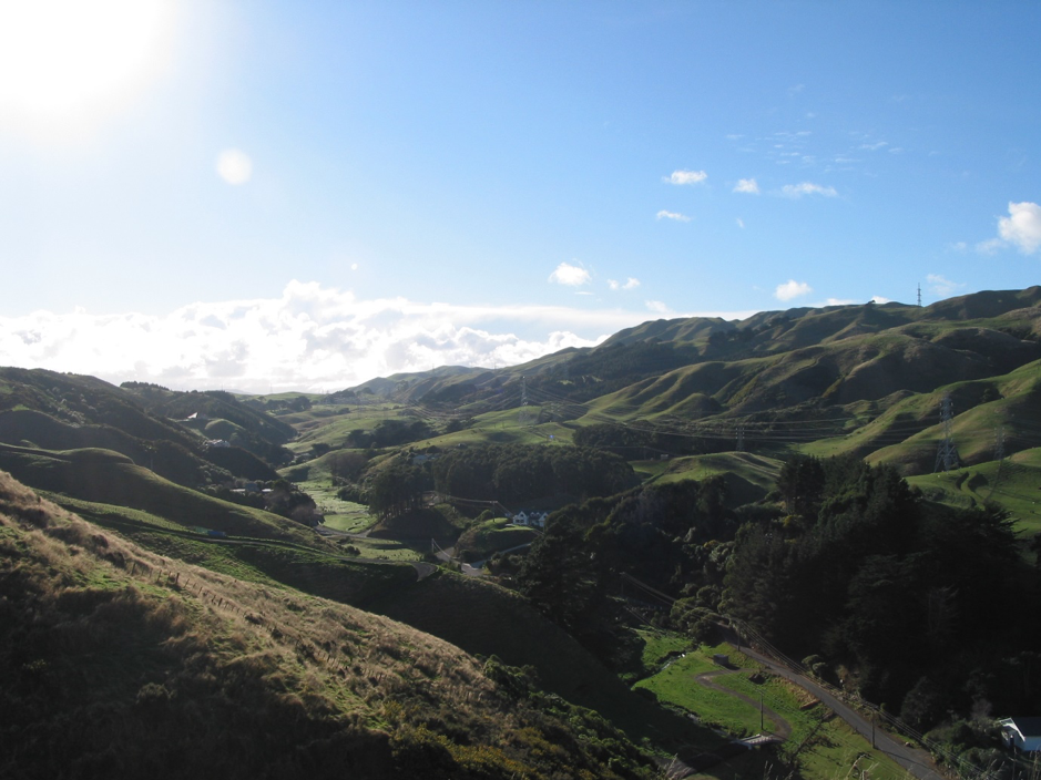 Takapu Valley, Wellington City. The constraints of topography have ensured a certain coherence in the natural patterns has been sustained. Beautiful places close to main centres are however threatened by fragmentation.