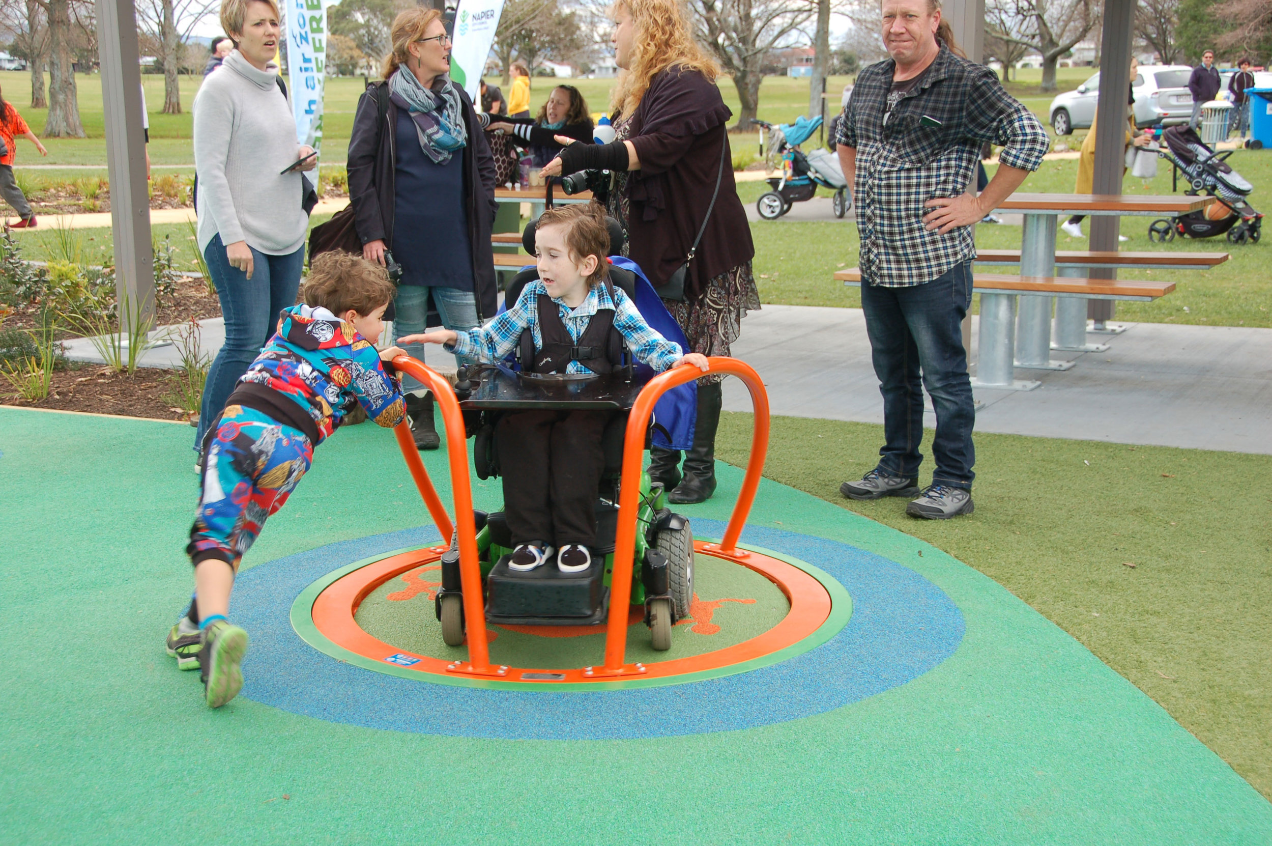 Providing children of all abilities the opportunity to spin, slide and swing was a central design driver for Anderson Park Playground.