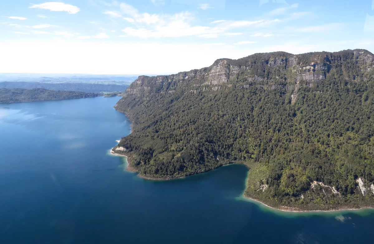 Lake Waikaremoana within Te Urewera National Park which is not recognised as an ONFL within the Hawke's Bay RRMP.