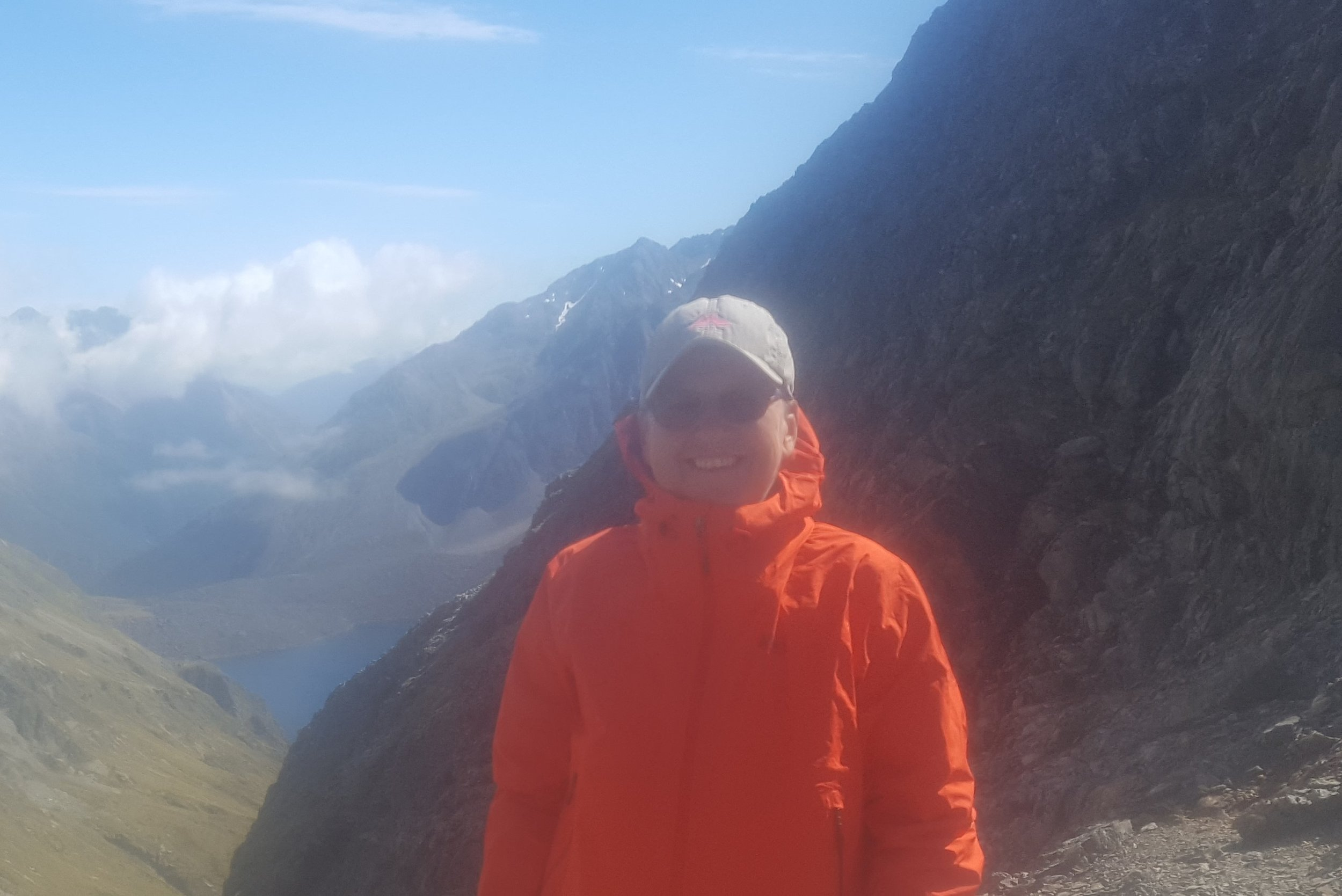 The author on Waiau Pass with Nelson Lakes National Park behind - undoubtedly an outstanding natural landscape.