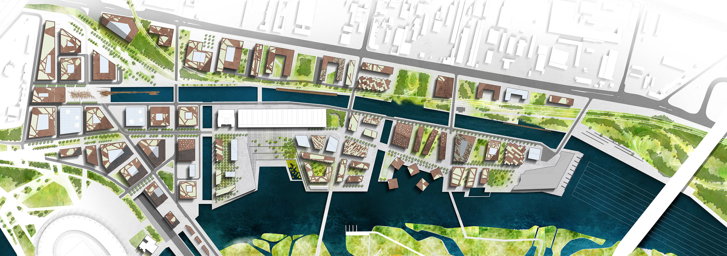 The river banks of the Danube are not currently accessible as they are shaped according to flood control measures so the new design sets about to change that.
