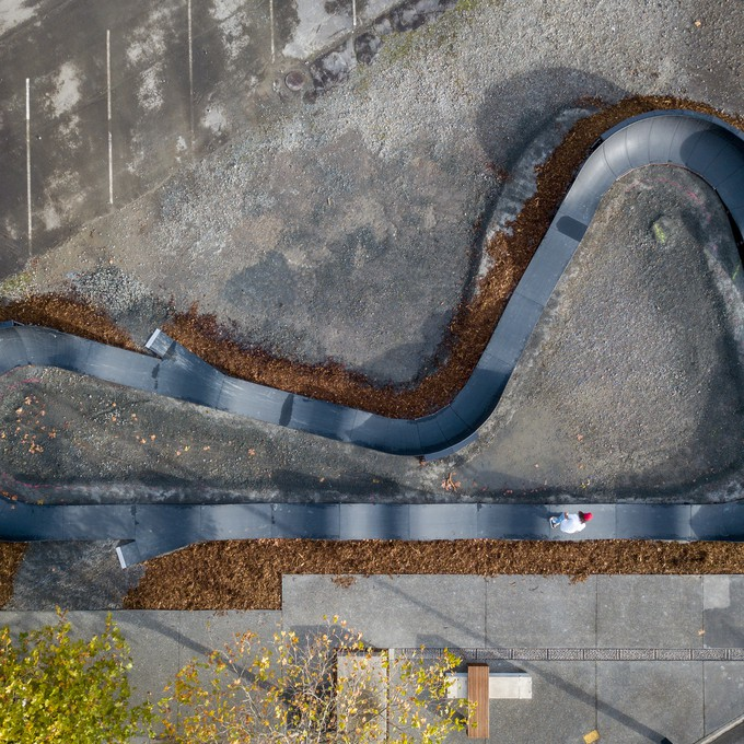 The Modular Pumptrack system offers councils and designers 13 different pre-designed layouts, or the option of a customised bespoke track design.