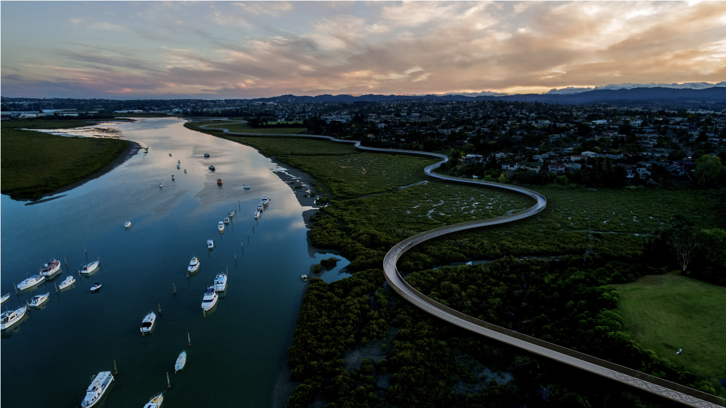 Te Whau connects Auckland's east and west coasts.