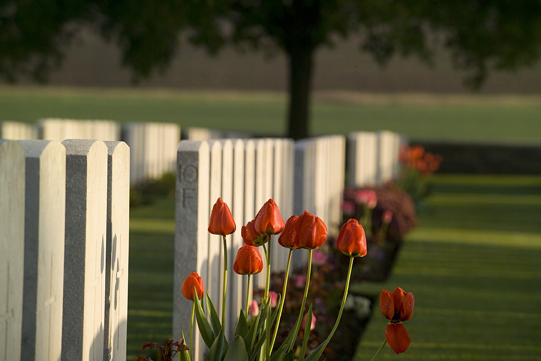 Guillemont Road Cemetery in France. Photo credit: Commonwealth War Graves Commission