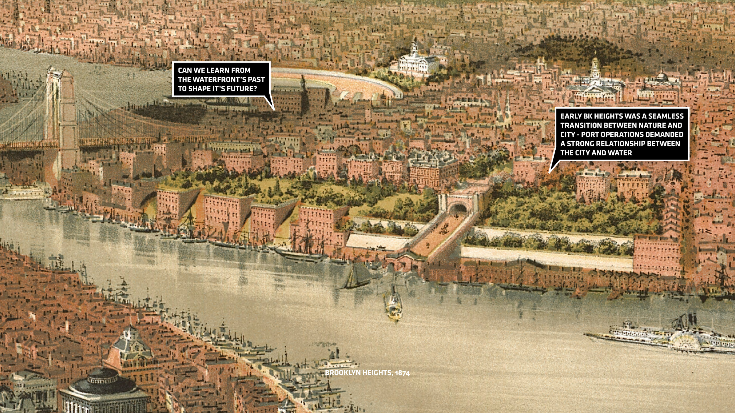 Brooklyn Heights as depicted in 1874. Image credit - (BIG) Bjarke Ingels Group.