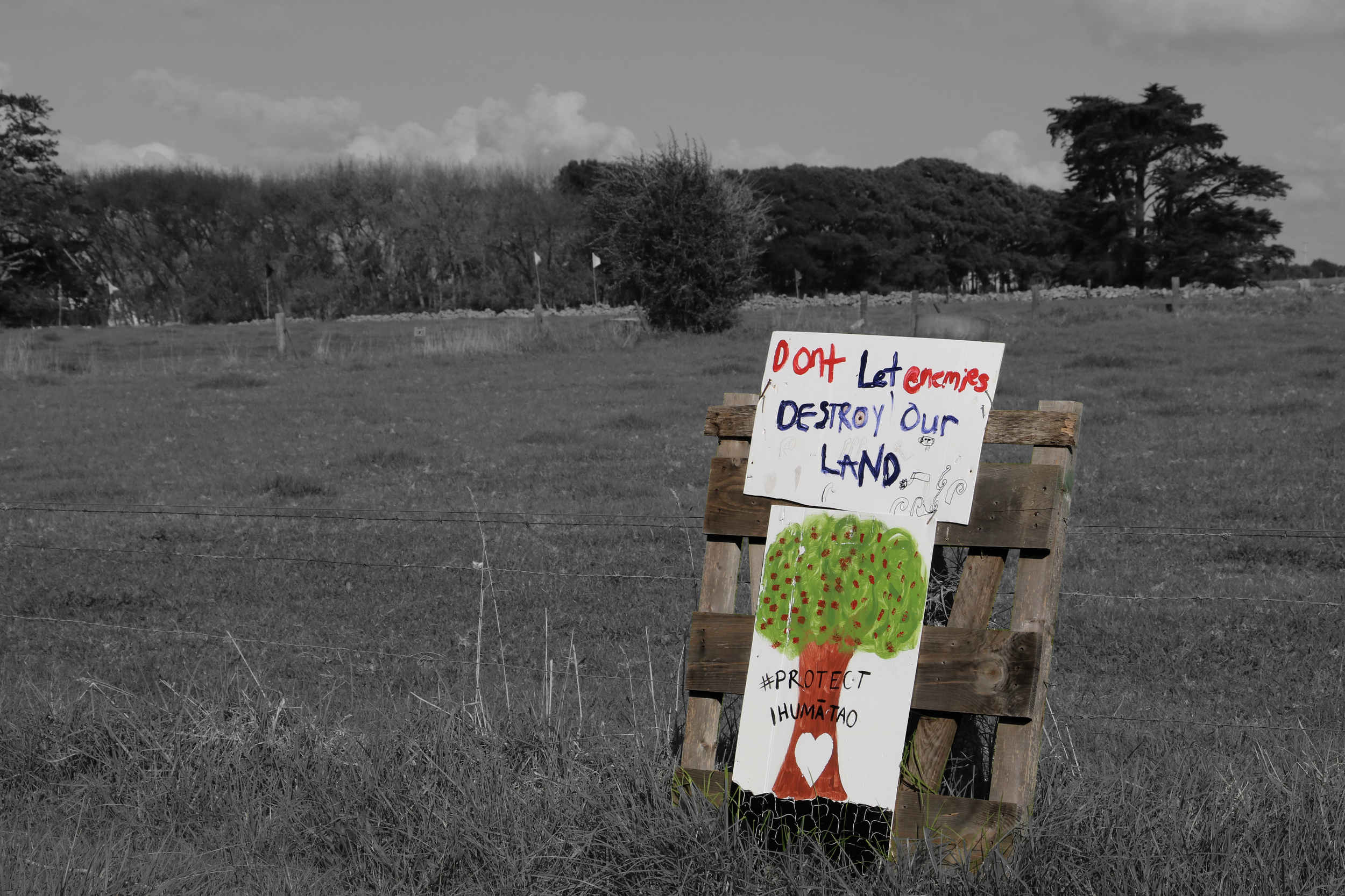 Save Our Unique Landscapes (SOUL) say they are protecting the land in Ihumaatao, rather than protesting