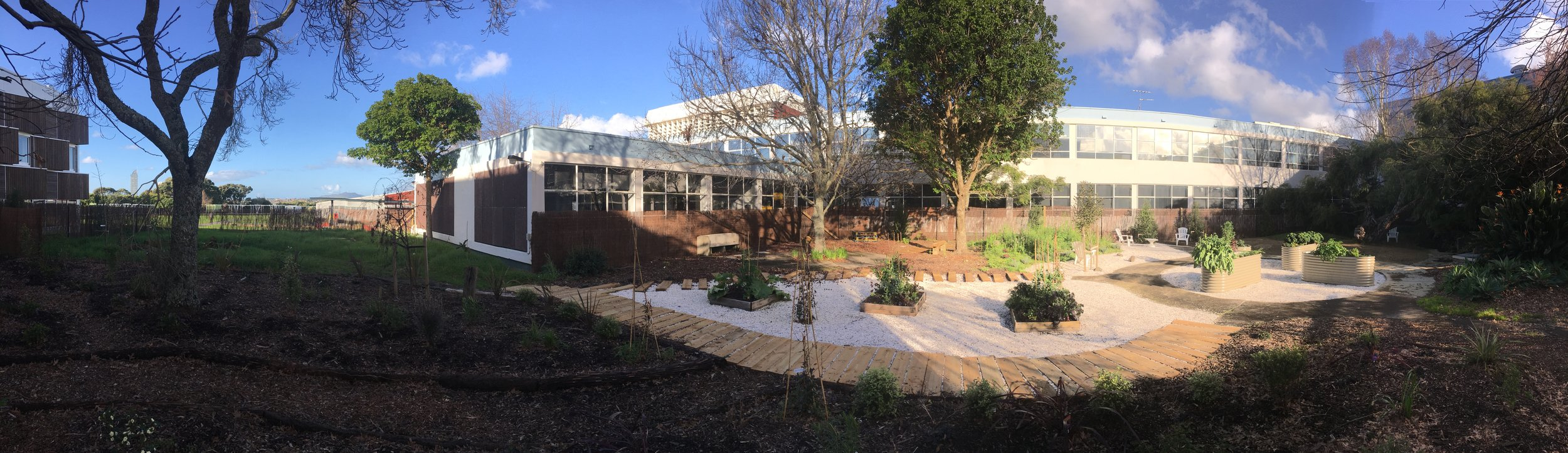 Souter-Brown has created a sensory garden on site at Auckland University of Technology's Northcote campus.