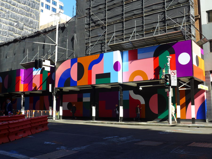 Obstacle Course by Elliot Bryce Foulkes. The work references an individual's experience when navigating the city. Each element in the work represents Sydney, from existing infrastructure to ongoing development.