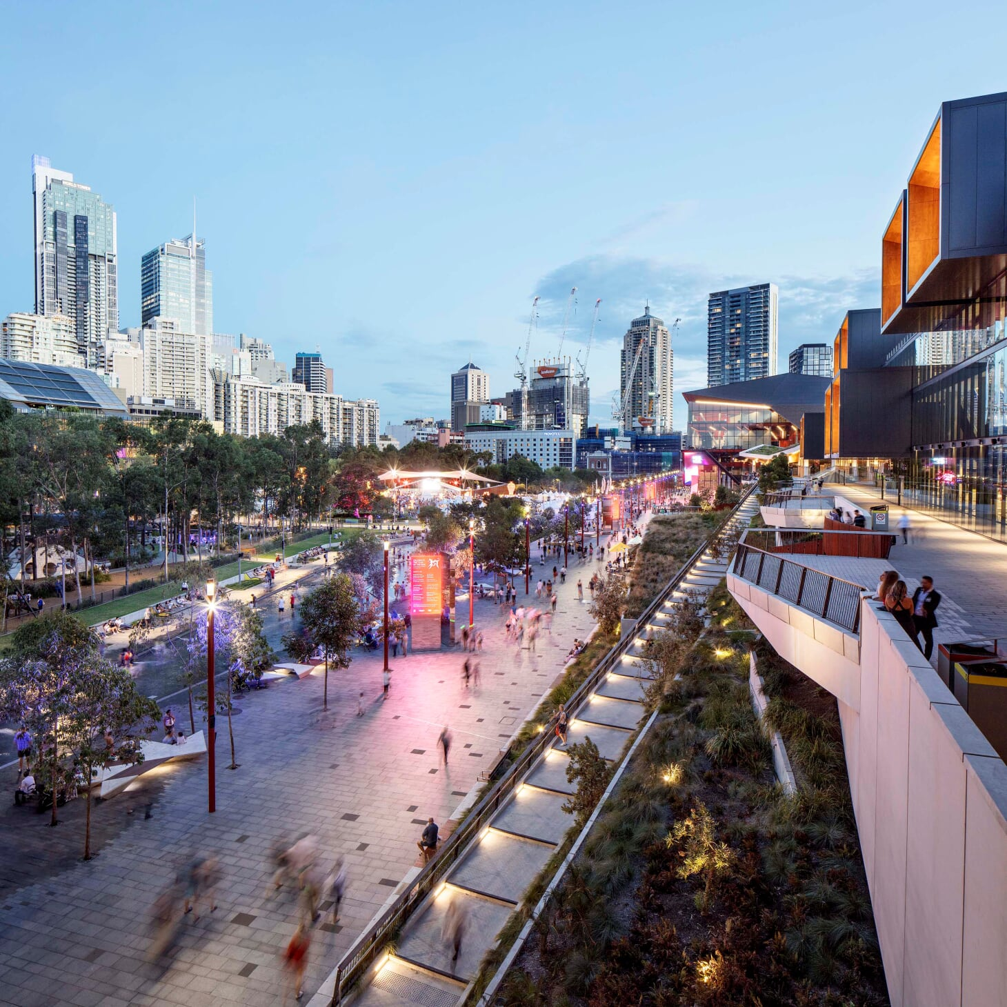 The Darling Harbour project has won a 2019 WLA merit award. Image credit- Simon Wood