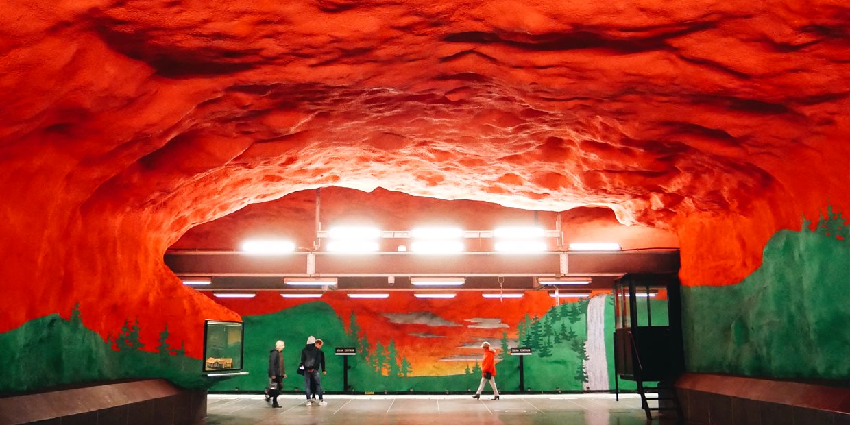 Solna Centrum station. Photo: Visit Stockholm