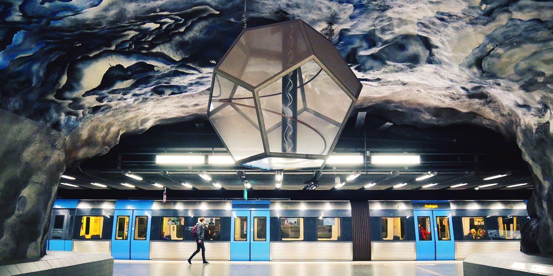 Tekniska Högskolan station. Photo: Visit Stockholm