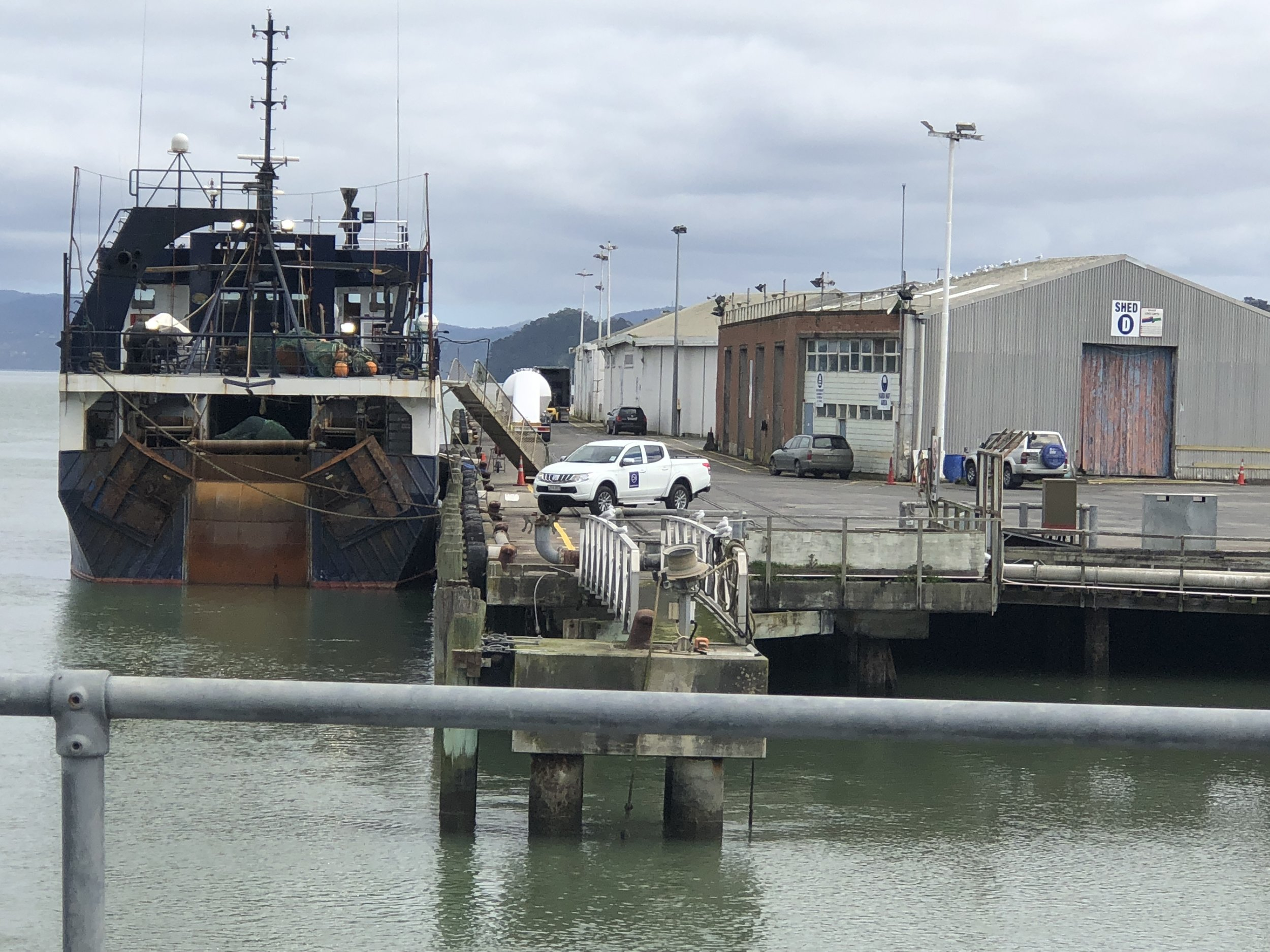 The Onehunga wharf is the only west coast port in Auckland.