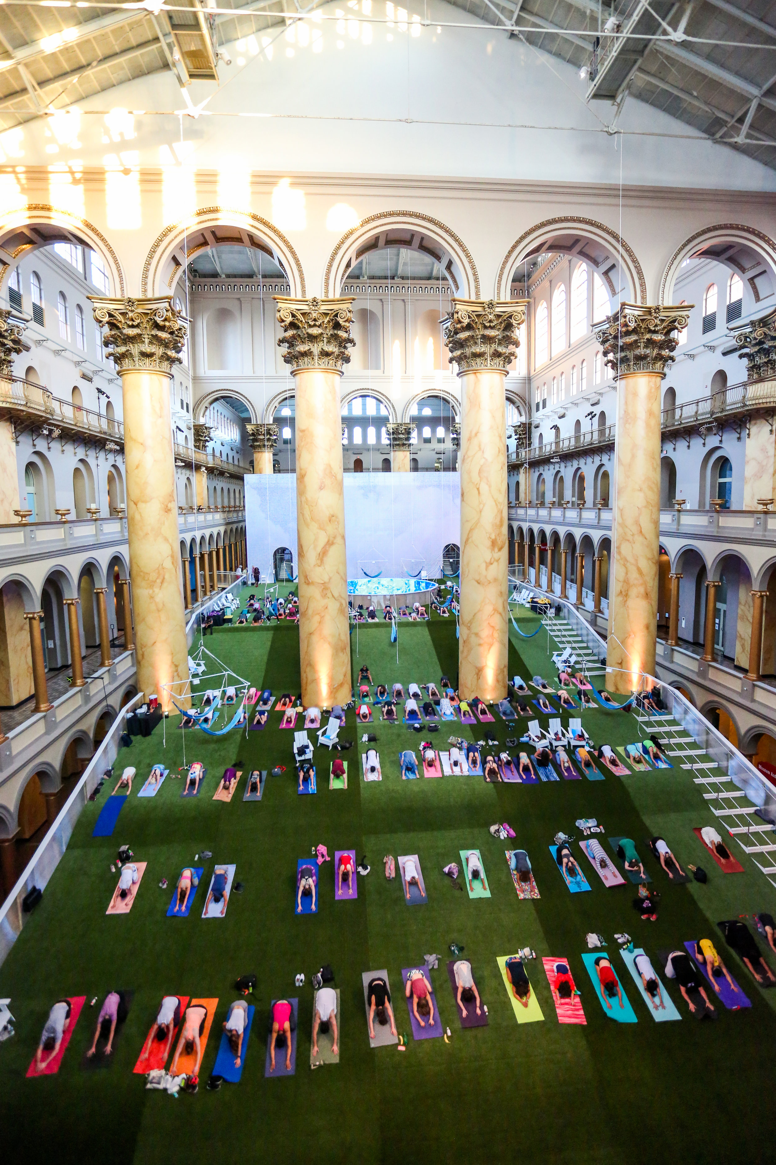 """The public are invited to yoga classes on """"Lawn"""""""
