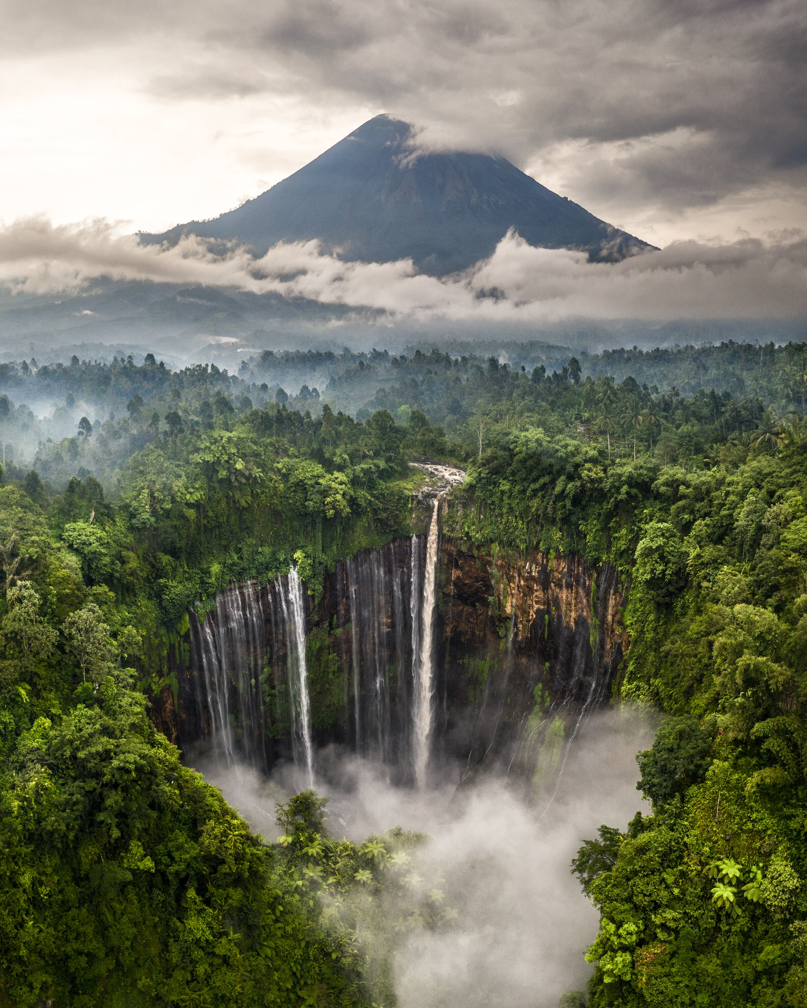 Indonesia's largest waterfall, East Java. Photo: Hugo Healy/AGORA images