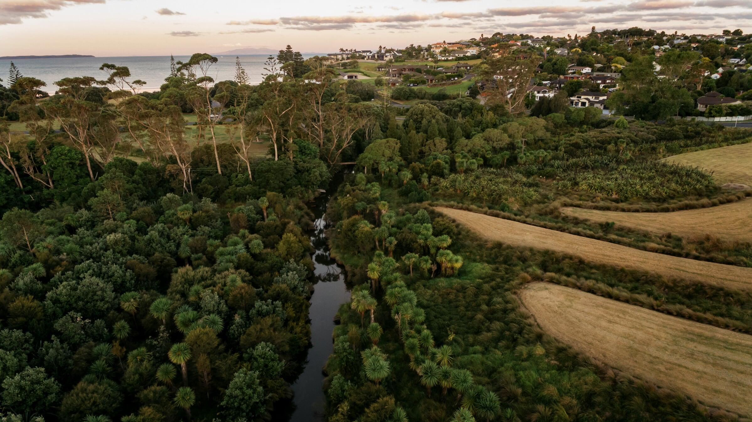 The development has a stunning natural environment.