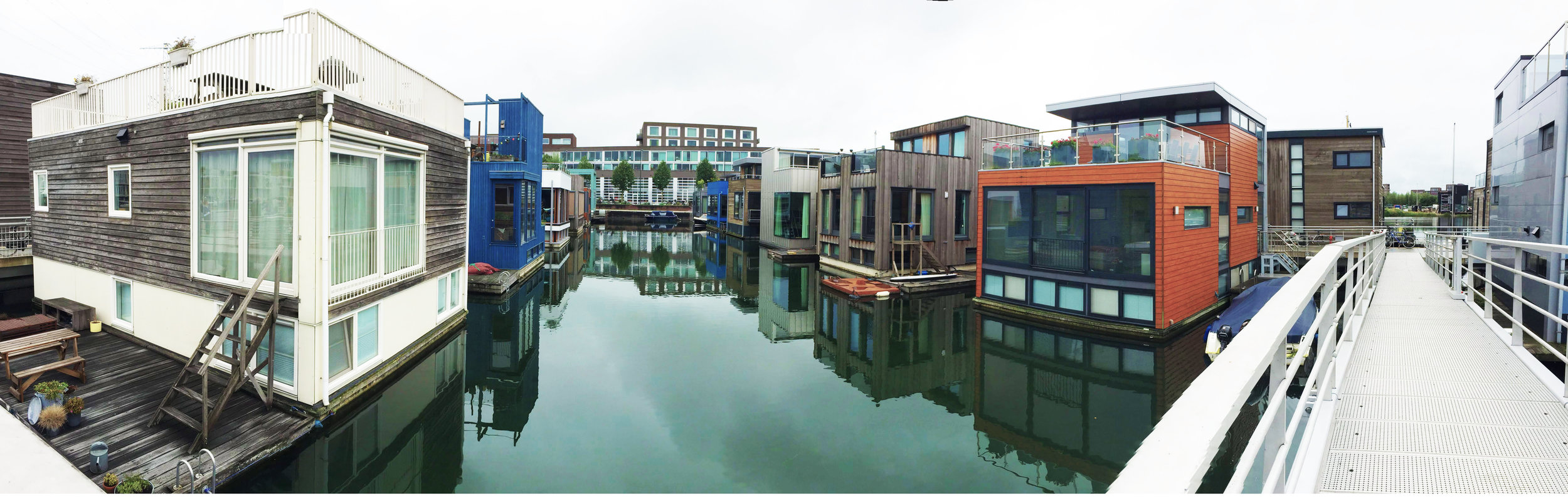 IJburg consists of man-made islands connected by bridges.