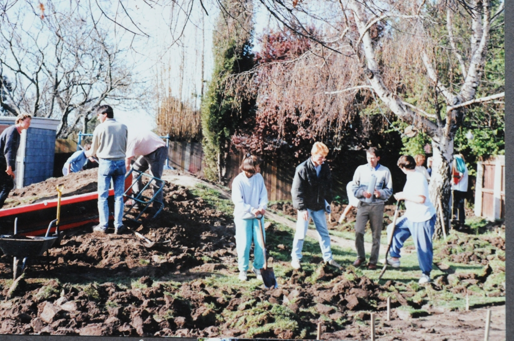Student construction job – c1994, Photo courtesy of Rebecca Wilson