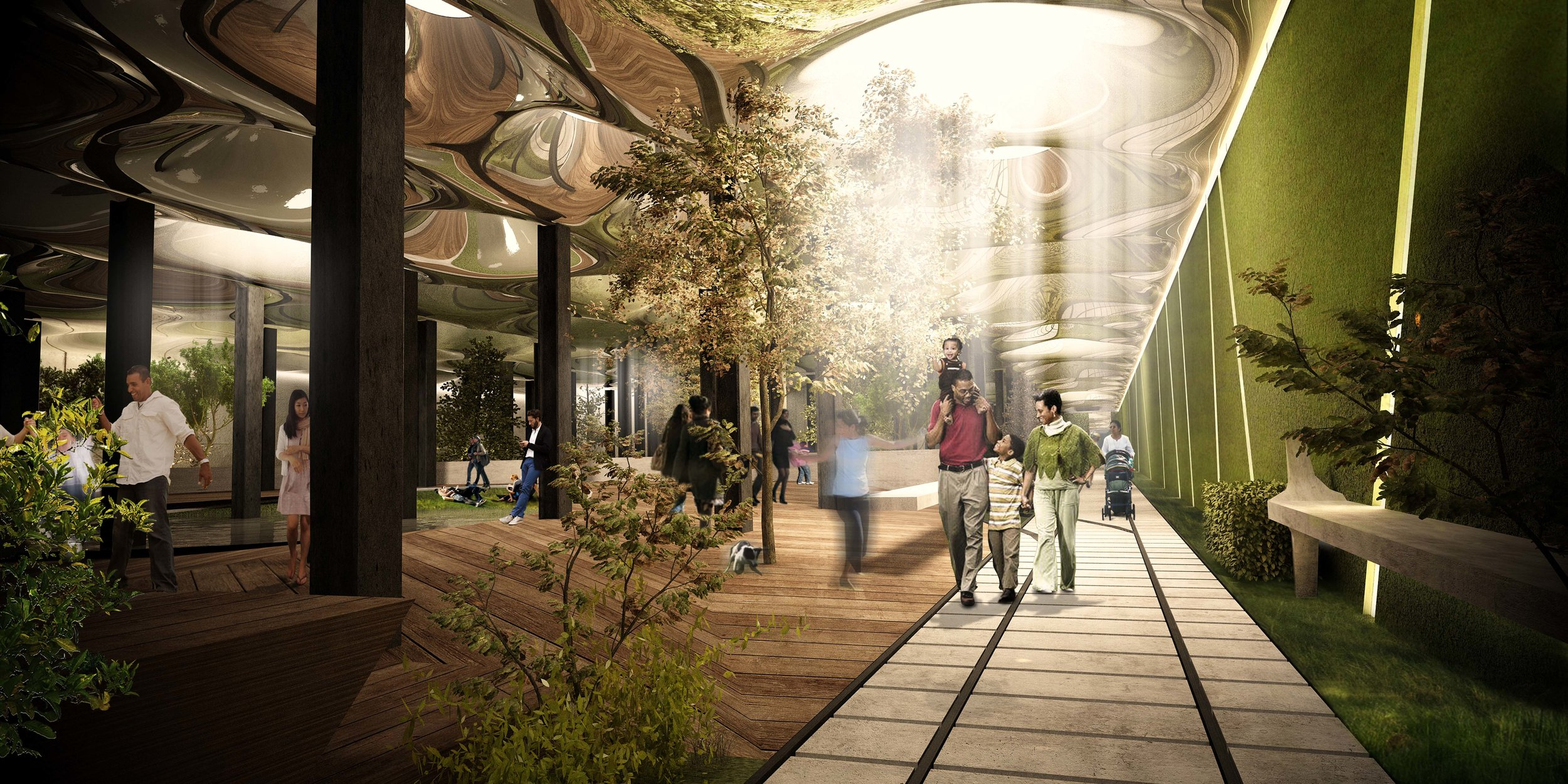 The project will see an abandoned trolley terminal in Manhattan's Lower East Side turned into the world's first underground park.