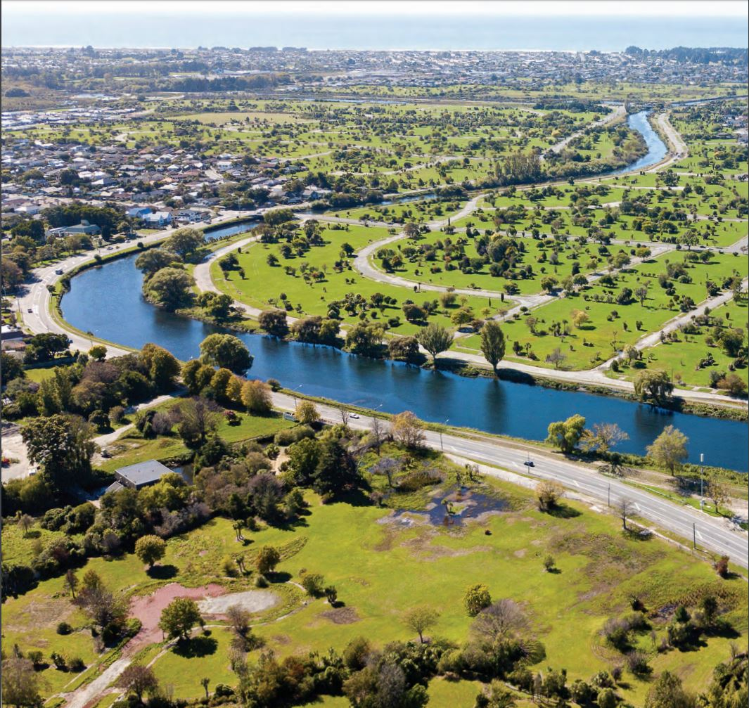 """""""The Ōtākaro/Avon River forms an enduring foundation of life in Ōtautahi/Christchurch. As a source of mahinga kai for early Ngāi Tūāhuriri and colonial pioneers, as a transport system and as a recreational area, the Ōtākaro/Avon River binds our memories, and our futures together."""" Source: Regenerate Christchurch"""