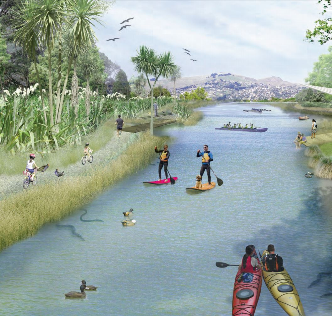 The regeneration plan presents a bold vision for the future of the Ōtākaro Avon River Corridor. It emphasises a restored natural environment, and strengthened connection between people, the river and the land.