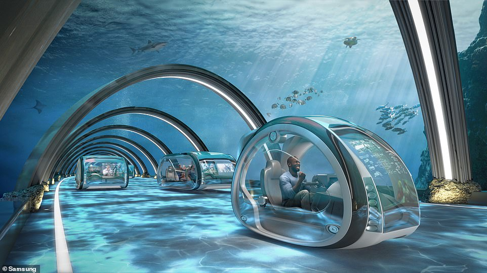 Concept image of an underwater highway.