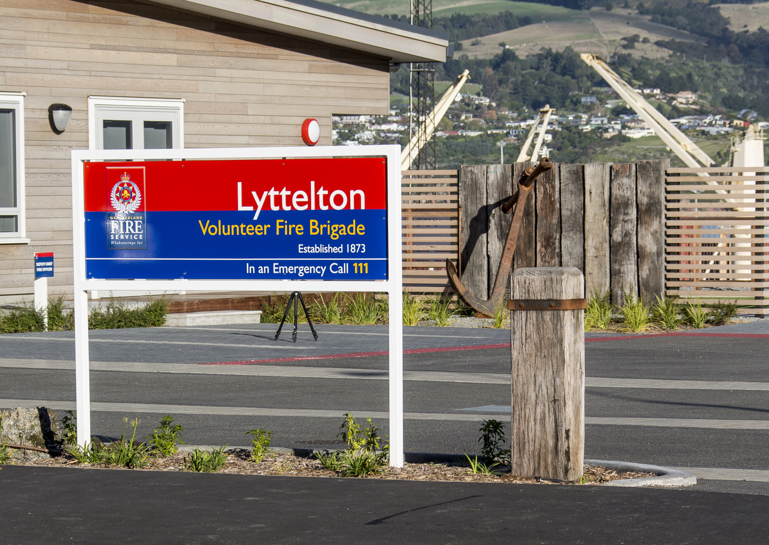 The Lyttelton Fire Station design celebrates the volunteers, shows off the fantastic setting of Lyttelton, the port and the harbour. Photo by  CMG Studios