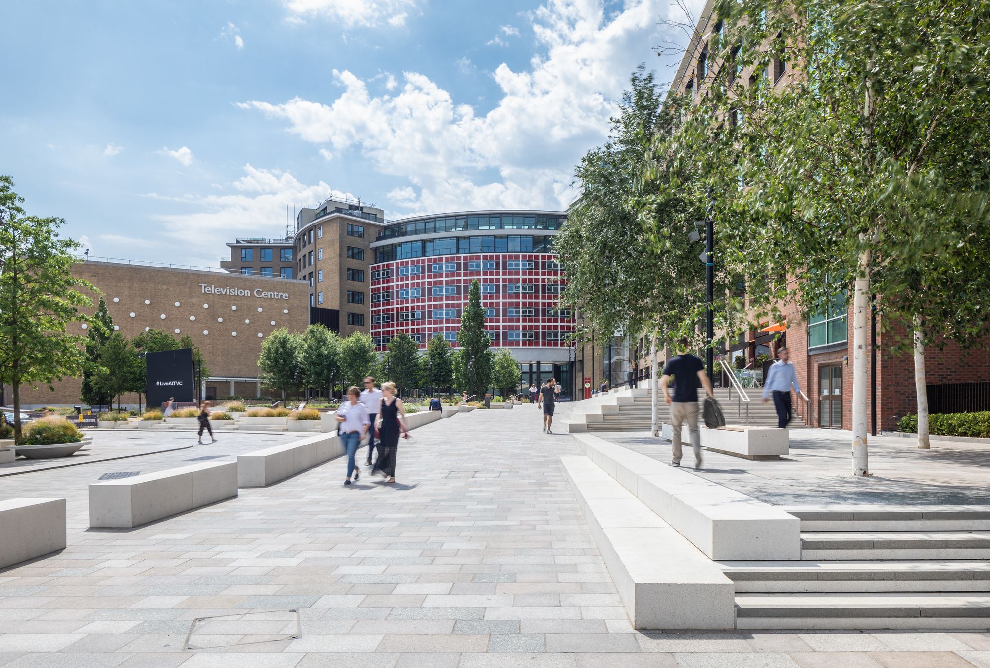 Some of the award winning spaces at the BBC TV centre in London are open to the public.