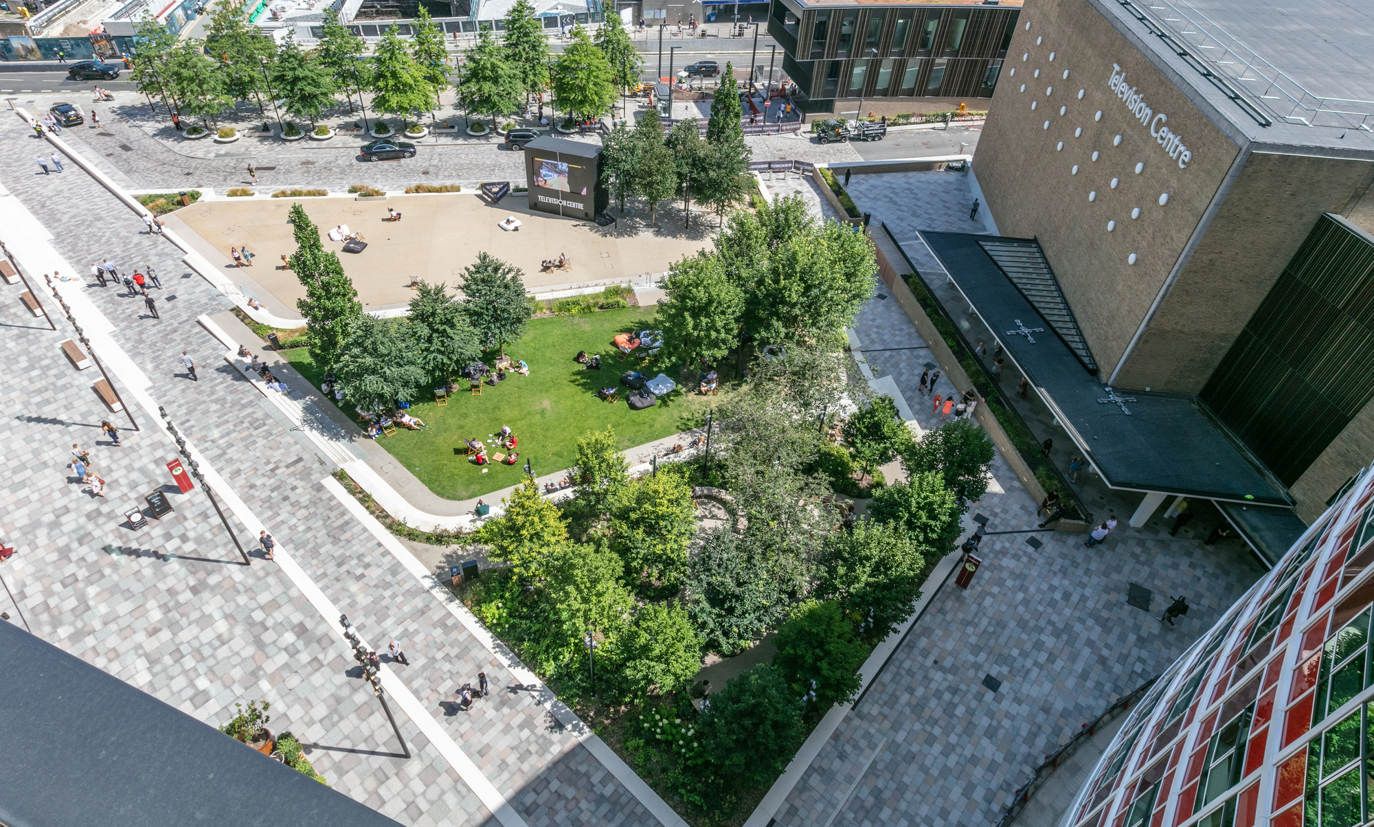 The truly mixed-use development features office and studio space for the BBC, entertainment and leisure facilities, new homes and private residential gardens and a hotel as well as public spaces.