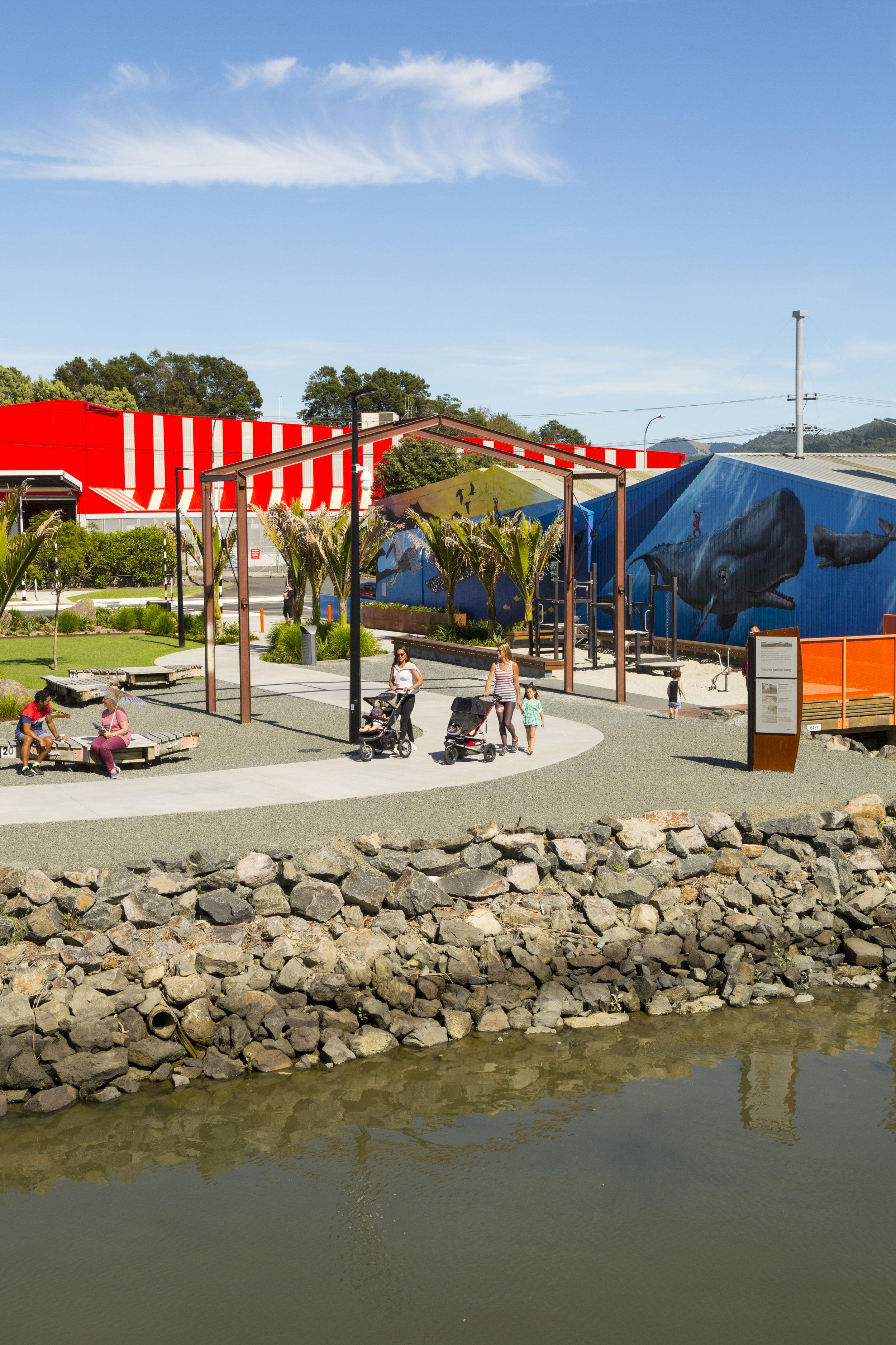 The park connects the Hatea Loop with Okara shopping precinct. Photo credit: Doug Pearson