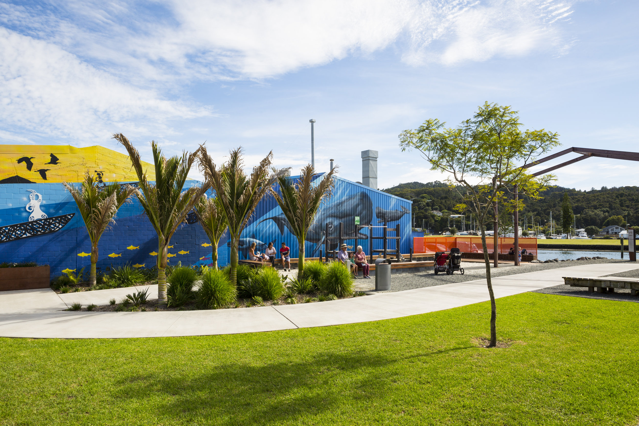A popular space to relax, play & commute on the waterfront. Photo credit Doug Pearson.