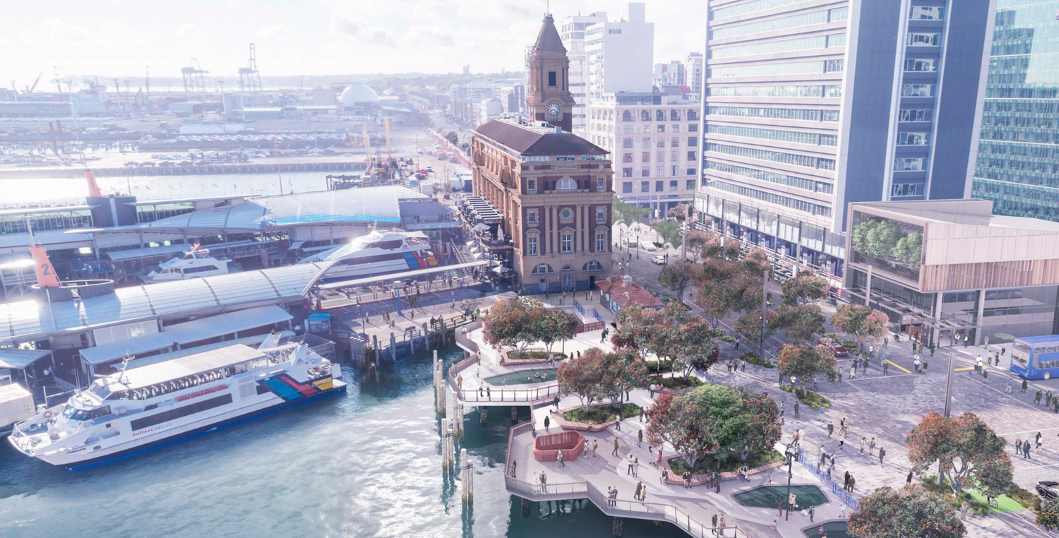 A render of how downtown Auckland will look. Image credit: Isthmus