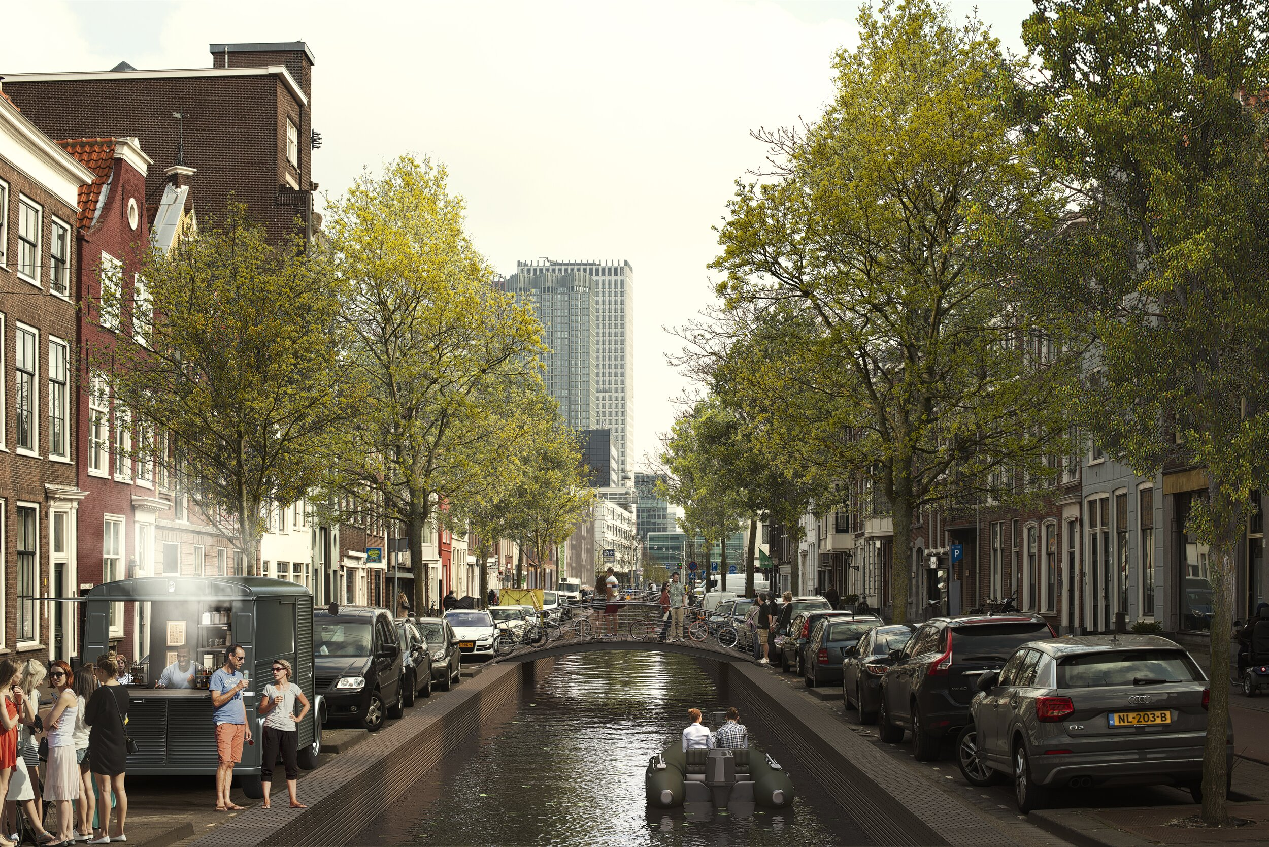 The Hague's canals are a key component of the MVRDV plan.